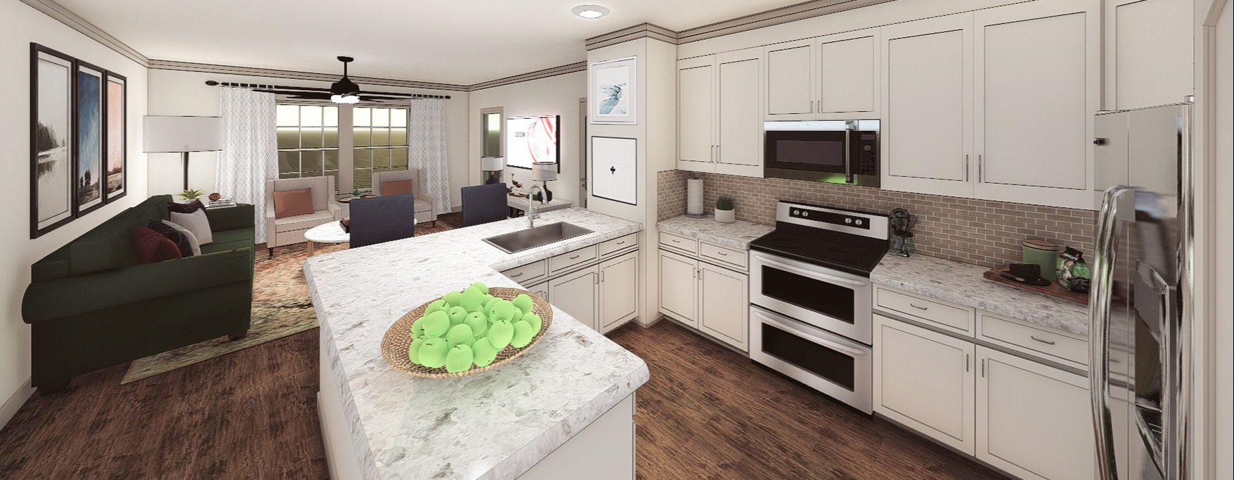 U-Shaped kitchen with plenty of counterspace