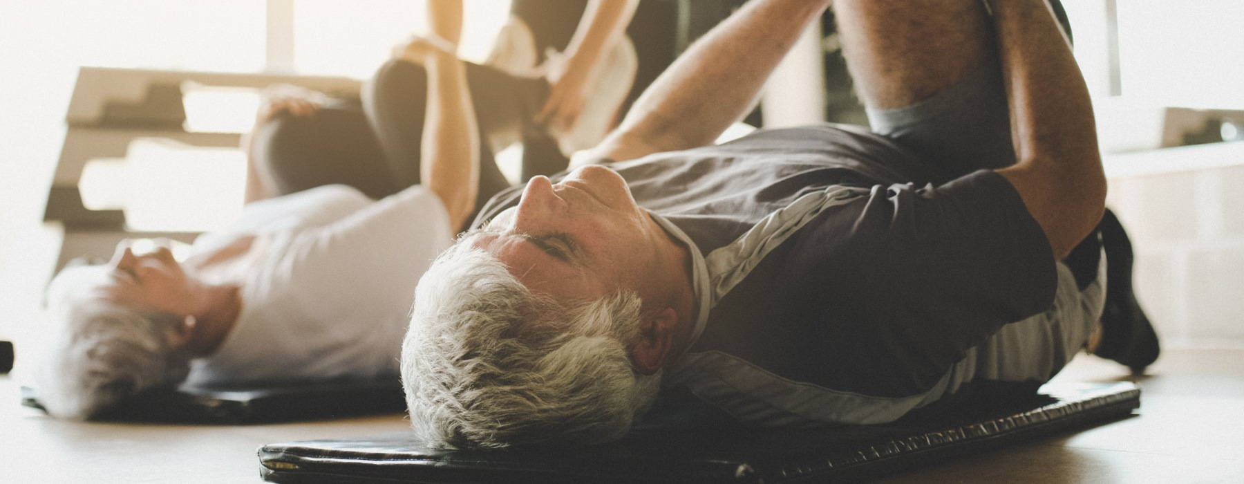Active adults working out